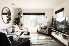 Small on Space, Big on Style: These Are the Best Small Living Room Decorating Ideas Around Since small living room decorating ideas can be a challenge, we're here with this oh-so-helpful guide to break it all down. Tiny Living Rooms, Rugs In Living Room, Home And Living, Living Room Furniture, Living Room Decor, Living Spaces, Small Living Room Designs, Small Living Room Storage, Furniture Placement