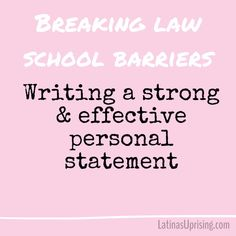 Law School Personal Statement  Writing Guide Pinterest