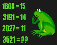 Brain teaser - Number And Math Puzzle - Frog logic puzzle - Replace ?? with a number respecting the equations above. Find the pattern.