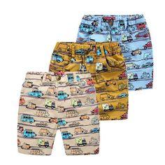 917451be7b 2017 Chicos de Impresión Ocasional Pantalones Cortos de Verano de Los  Cabritos Ropa de la Historieta