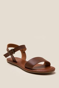 f3a1490ba Brown MIA Tia Wide Strap Sandal