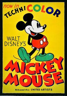 Mickey Mouse Technicolor 70 x 100 cm dipinto a mano VanArt