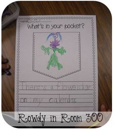 Rowdy in Room 300: What's in your pocket?  Use with There's A Wocket in My Pocket