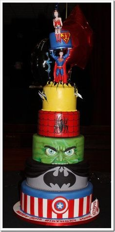 Able To Leap Tall Superhero Cakes In A Single Bound