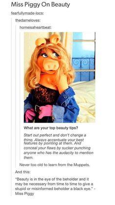 Miss Piggy's Beauty Tips