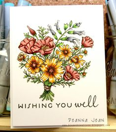 Wishing You Well card by Deanna Jean