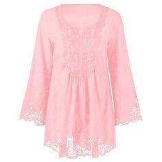 Carrie Floral Lace Crochet Blouse