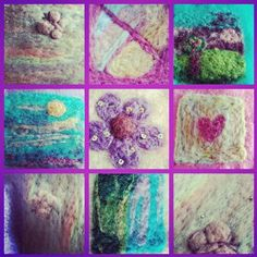 Felted colourful things