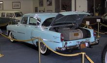 Howard Hughes had this 1954 Chrysler New Yorker equipped with an aircraft-grade air filtration system that took up the entire trunk.