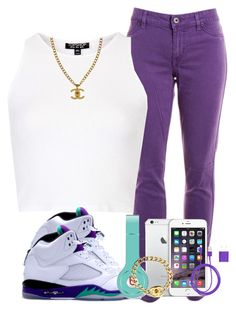 """""""We Heart Her"""" by danimack03 ❤ liked on Polyvore featuring Rich & Skinny, Topshop, NIKE, Chanel, Beats by Dr. Dre and PhunkeeTree"""