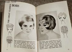 hair roller diagram | The last pages of the book showed how to set you hair and how to put ...