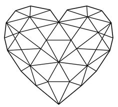 Afbeeldingsresultaat voor geometric heart