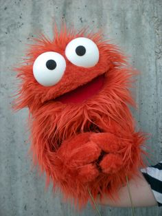 Professional Orange Furry Monster Puppet by blankpuppets on Etsy