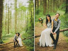 A Romantic Elopement in the Woods