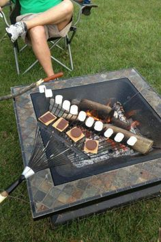 Now if you're gonna do s'mores........this is the way to do it!