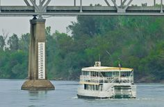 The golden age of riverboats may be over, but this riverboat cruise lets you see the Missouri River in a charmingly old fashioned way. 1 Day Trip, Weekend Trips, Missouri River, Shop Displays, Store Fronts, Nebraska, Golden Age, Wander, Brick