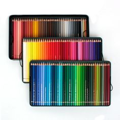The Polychromos pencil set by Faber-Castell includes pencils rich in pigments and of very good quality that offer vivid colours with great covering power, resis Vivid Colors, Colours, Wooden Pencils, Paper Drawing, Polychromos, Coloured Pencils, Art Graphique, Tin Boxes, Metal Tins