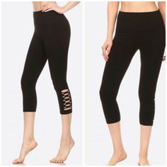 cac1d13a5a028b Womens black stretch leggings with cutout details. size S/M #fashion
