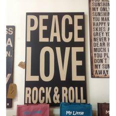 Panel Peace,Love ,Rock&Roll XL