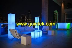 Wireless Rechargeable Battery LED Cube Chairs