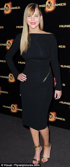 """Jennifer Lawrence at the Paris premiere of """"The Hunger Games"""""""