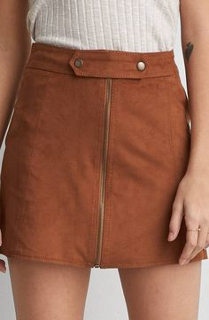 AEO Faux Suede Mini Skirt  by  American Eagle Outfitters | Calm before the warm... Transition your look. Shop the AEO Faux Suede Mini Skirt  and check out more at AE.com.
