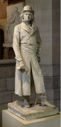 Jean-Alexandre-Joseph FALGUIERE, (Toulouse, 1831 - Paris, 1900), Henri de La Rochejaquelein, 1895, Inv. RA 957. Exposée, escalier Darcy. © Musée des Augustins, Toulouse, photographie Daniel MARTIN