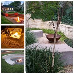 Garden firepit inspirations. Ognisko w ogrodzie - Green Design inspiracje. Backyard, Patio, Outdoor Decor, Green, Inspiration, Design, Prehistory, Biblical Inspiration