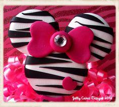Zebra Minnie Mouse Keepsake Cake Topper ~ polymer clay