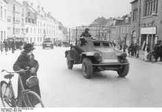 German SdKfz. 223 armored radio car in Denmark, 12 Apr 1940. (German Federal Archive, Bild 101I-753-0010-19A)