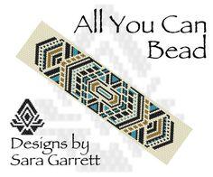 Peyote Bracelet Pattern 109 Bead Weaving INSTANT DOWNLOAD PDF Odd Count by AllYouCanBead on Etsy https://www.etsy.com/listing/184500617/peyote-bracelet-pattern-109-bead-weaving
