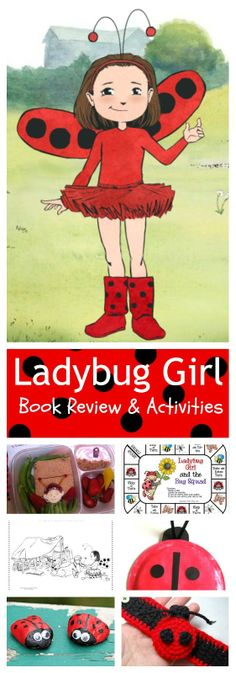 Some cute ladybug activities to go along with the Ladybug girl books that we already love!