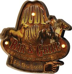 Home Decor and Specialty Gifts for the Outdoor Enthusiast Metal Bar, Bar Signs, Shop Signs, Rustic Cabin Decor, Cellphone Wallpaper, Custom Paint, Decorative Bells, Ranch, Art