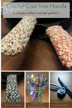 Crochet Cast Iron Handle Pattern