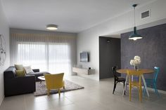 Budget Minimalist Apartment Designed for a Young Couple in Israel