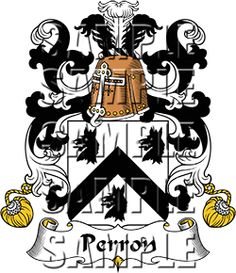 Perron Family Crest apparel, Perron Coat of Arms gifts