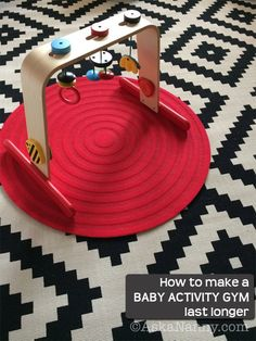 How to use a baby activity gym at all stages