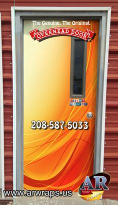 Overhead Decal Door Wraps Refrigerator Wraps, Mini Fridge, Fabric Material,  Decals, Cool