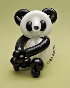 This Panda is made from 4 balloons, all of then 260s, 2 black and 2 white. You can keep up to date with all the latest news and sculptures by heading over to Facebook -www.facebook.com/mydailyballoon and hitting the 'like' button.