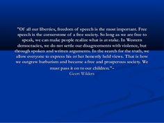 freedom of speech essay topics