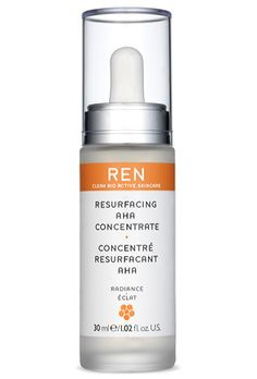 REN Resurfacing AHA Concentrate (glycolic, lactic, and tartaric acids to exfoliate)