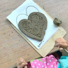 How to Make Clay Coil Hearts (Easy Clay Projects for Kids) – Megan Heckmann – art therapy activities Clay Projects For Kids, Clay Crafts For Kids, Kids Clay, Craft Projects, Art Therapy Activities, Painting Activities, Nature Activities, Kid Activities, Hobbies For Kids