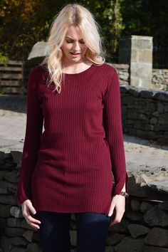 Happy Kinda Life - Revitalise your jumper wardrobe with our fresh take on a tunic. We all know St Nick's favourite style of knitwear is a tuNIC (groan), well, ok... we don't, but it's certainly one of ours. With round neck and flattering side slits.