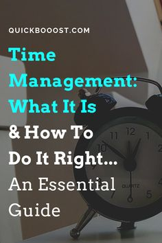 The Time Management Guide: What It Is And How To Do It Right Time management is a necessity when it comes to making use of your 24 hours each day. Learn what time management is and how to do it right in this essential guide! Time Management Activities, Time Management Printable, Time Management Quotes, Time Management Tools, Effective Time Management, Time Management Strategies, High School Activities, Activities For Adults, Best Home Business