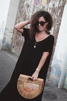 black maxi, cult gaia ark bag Summer Chic, Black Maxi, Cloth Bags, Casual Outfits, Womens Fashion, Fashion Trends, Hello Summer, Style Inspiration, Communion
