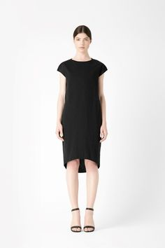 Cotton linen jersey dress