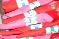 50's Diner Theme Party: Napkin Rings