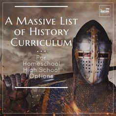 Here is a selection of homeschool high school history curriculum options. Using curriculum is one great option for homeschooling high school. High School World History, World History Teaching, World History Lessons, History Education, Education Uk, History Classroom, Religious Education, Women's History, High School Curriculum