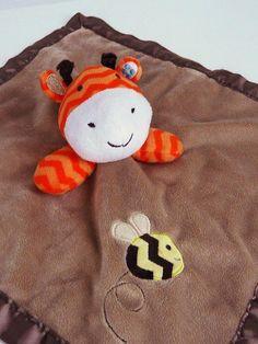 Circo GIRAFFE Security Blanket Bumble Bee Target Velour Brown Orange Baby Lovey #Circo