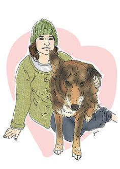 Custom Family Portrait: Hand Drawn Digital by LuvFirstSight